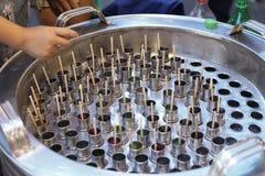 Popsicle lodu tubka przy Thailand Zdjęcia Royalty Free