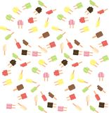Popsicle scatter  Royalty Free Stock Photography