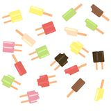 Popsicle scatter  Stock Photography