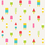 Popsicle seamless pattern background Royalty Free Stock Image