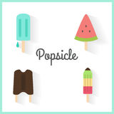 Popsicle set Royalty Free Stock Photography