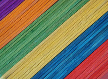 Popsicle sticks. Colorful popsicle stick background royalty free stock photos