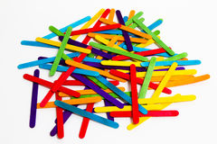 Popsicle Sticks Scattered Royalty Free Stock Photos