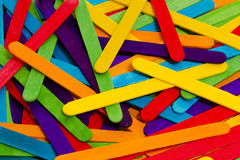 Popsicle Sticks Scattered Royalty Free Stock Images