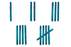Popsicle Tick Marks. ( number 1 to 5 Royalty Free Stock Image