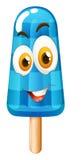 Popsicle z szczęśliwą twarzą Zdjęcia Royalty Free