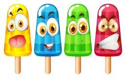 Popsicle z wyrazem twarzy Obrazy Royalty Free