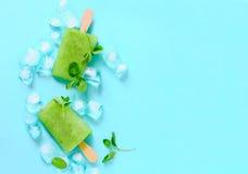 Popsicles мяты освежая Стоковое Изображение RF