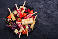 Popsicles плодоовощ Brigth Стоковые Изображения