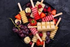 Popsicles плодоовощ Brigth Стоковая Фотография RF