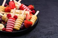 Popsicles плодоовощ Brigth Стоковое фото RF