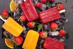 Popsicles плодоовощ Стоковые Фото