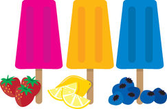 Popsicles Royalty Free Stock Photography