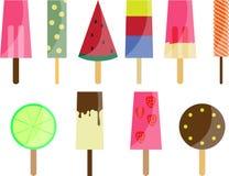 10 popsicles Стоковые Изображения
