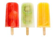 Popsicles de fruit Photos libres de droits