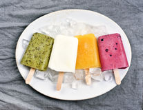 Popsicles icecream from fruits Stock Photography