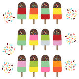 Popsicles. Royalty Free Stock Photography