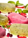 Popslices icecream  assortment on white background Royalty Free Stock Image