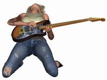 Popstar con la chitarra Immagine Stock