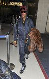 Popstar Grace Jones at LAX Stock Photography