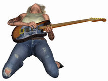 Popstar with Guitar Stock Image