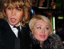 Popstar Sergei Zverev und Katya Lel, zum zu erstaufführen t Lizenzfreie Stockfotos