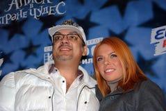 Popstars Philip Kirkorov und Anastasia Stotskaya Lizenzfreie Stockbilder