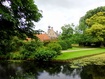 Castle in Marsum Friesland Netherlands. The park gardens and castle Marsum holland Royalty Free Stock Photography
