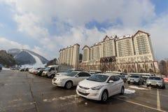 Populär himmelsemesterort i Korea Arkivfoton