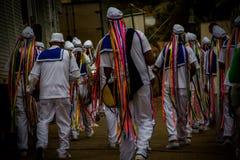 Populär manifestation för afrikanskt ursprung i Sabinà ³polis, Minas Gerais, Brasilien arkivbilder