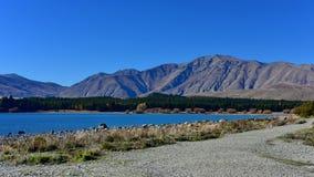 Populär och scenisk sjö Tekapo i Canterbury Arkivbilder