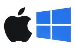 Populära operativsystemlogoer arkivbild