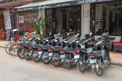 Populäre Café-Bierstube in Siem Reap stockfotografie