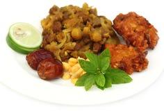 Populäre Iftar-Einzelteile für heiliges Ramadan Lizenzfreies Stockfoto