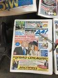 Populäre russische Zeitungen auf Brighton Beach Lizenzfreies Stockfoto
