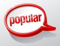 Populäre Spracheluftblase. vektor abbildung