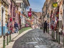 Populäre Touristen- und Einkaufsstraßen von La Paz Stockfoto