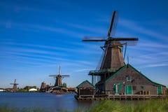 Populäre Touristenattraktionen Zaanse Schans sehr in Holland Stockfotografie