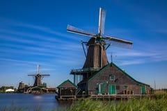 Populäre Touristenattraktionen Zaanse Schans sehr in Holland Lizenzfreie Stockbilder