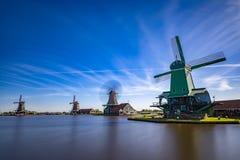 Populäre Touristenattraktionen Zaanse Schans sehr in Holland Stockbilder