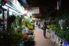 Populärer Blumen-Markt in Mongkok, Hong Kong Lizenzfreie Stockbilder