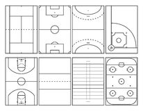 Populärer Sport umwirbt Entwürfe lizenzfreie abbildung