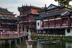 Populäres berühmtes Touristenort von Yuyuan-Garten altes Shanghai, China lizenzfreies stockbild