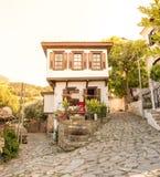Populäres Dorf von Sirince in Selcuk, Izmir, die Türkei stockfotografie