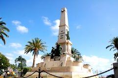 Populäres Monument vor dem Stadtzentrum in Cartagena Spanien lizenzfreies stockfoto