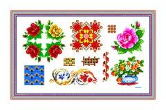 Populäres Motiv, Muster, regelmäßiges Motiv, Tischdecke Stockbilder
