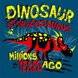 Populärt modernt stiltryck med dino Styranosaurus för T-tröja, Royaltyfri Illustrationer
