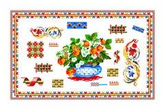 Populärt motiv, modell, vanligt motiv, bordduk royaltyfri bild