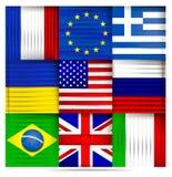 Populärt världsflaggaabstrakt begrepp vektor illustrationer
