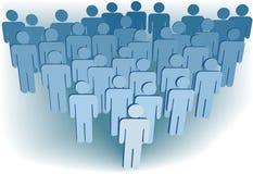 População da companhia do grupo de povos do símbolo 3D Imagem de Stock Royalty Free